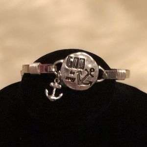 Jewelry - God Is My Anchor Bracelet